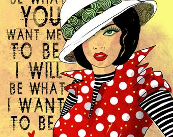 What I Want to Be / original illustration ART Print SIGNED / 8 x 10 / NEW
