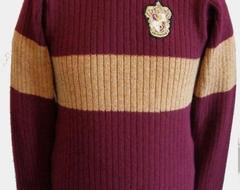 """Movie Inspired Hogwarts  School Sweater (made to order) Price is for 36-40"""" chest size"""