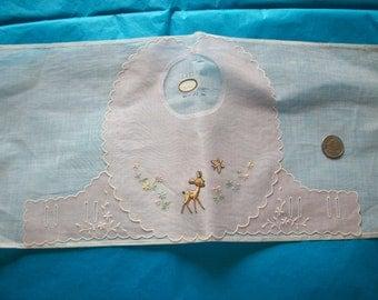 Antique fine cotton organdy collar original salesman's sample for baby