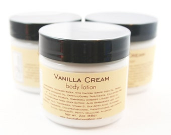 Vanilla Cream Body Lotion Sample - Milk and Honey Lotion - Shea Butter Body Cream - 2oz