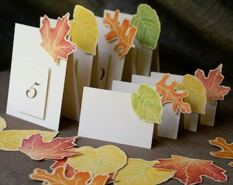 Table Numbers for Autumn or Fall - Events - Weddings - Holidays - Celebrations - Seating