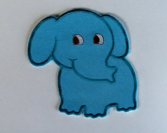 Little Blue ELEPHANT is a DIY Iron On - Sew On Applique