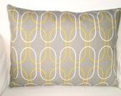Gray Citrine Lumbar Pillow Cover, Decorative Throw Pillows, Cushion, Lumbar Grey Citrine Cream Shiba, Couch Bed Sofa, One 12 x 16 or 12 x 18