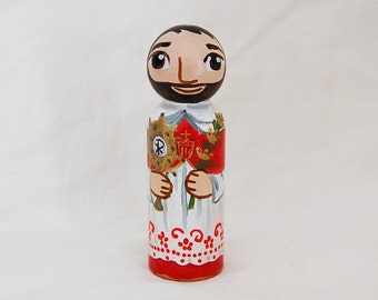 Saint Raymond Nonnatus Catholic Saint Doll - Wooden Toy - Made to Order