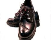 NaNa Pole Climber ShoesVintage Men's Black Leather Industrial Stength Work Shoes Mns U.S. size 9