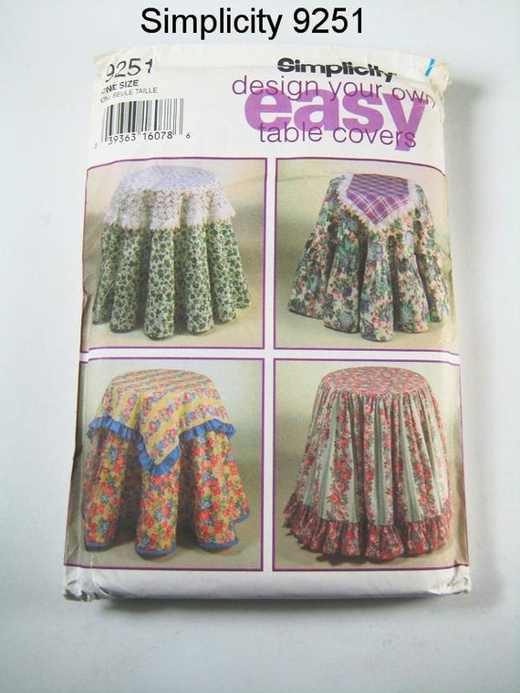 Https Etsy Com Listing 109804504 Simplicity Home Decor Pattern 9251 Table