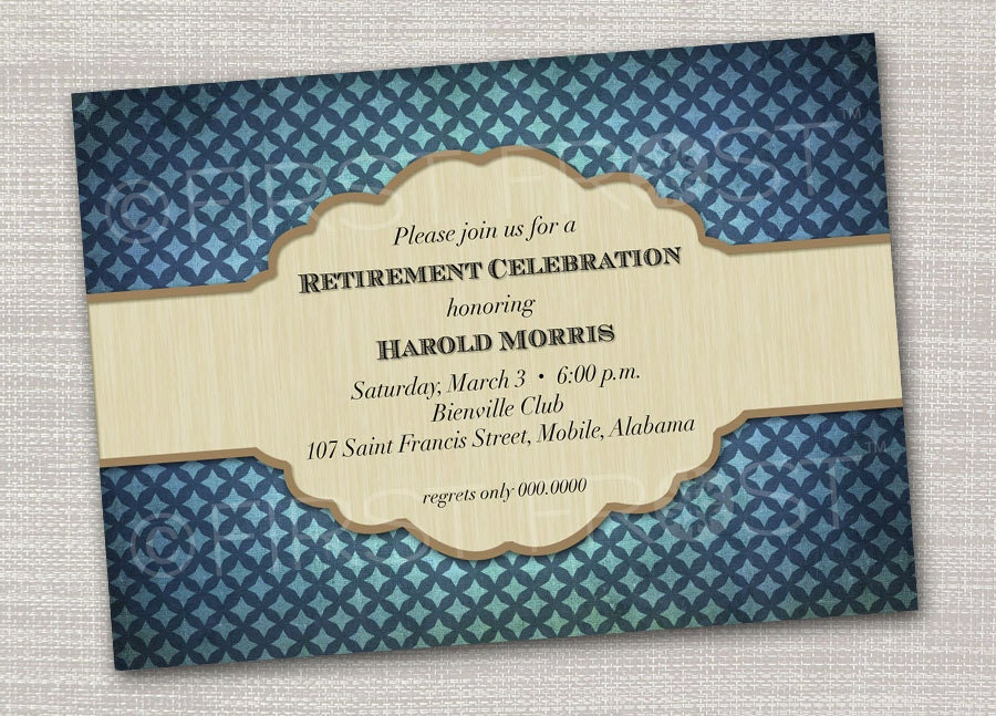masculine patterned printable card invitation party, Wedding invitations