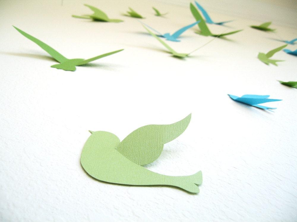 3d wall decor birds : Birds d wall decor art nursery boys by