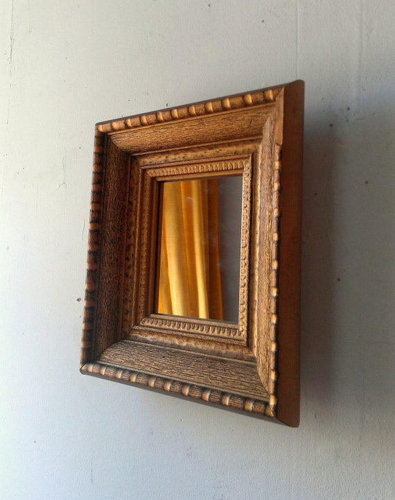 Decorative Wall Mirror in Vintage Gold Wood Frame