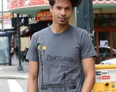 Historic Portland Hand Screen Printed Men's Tee