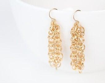 Gold Dangle Earrings - Mia
