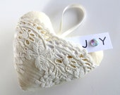 Heart Softie - Ornament - Sachet Embroidery Design for Machine Embroidery - In-The-Hoop