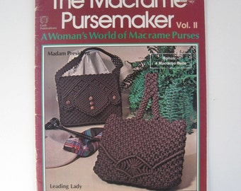 Purse Macrame Pattern Book - Macrame Belts & Handbags