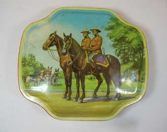 Vintage Canadian Mountie Toffee Tin