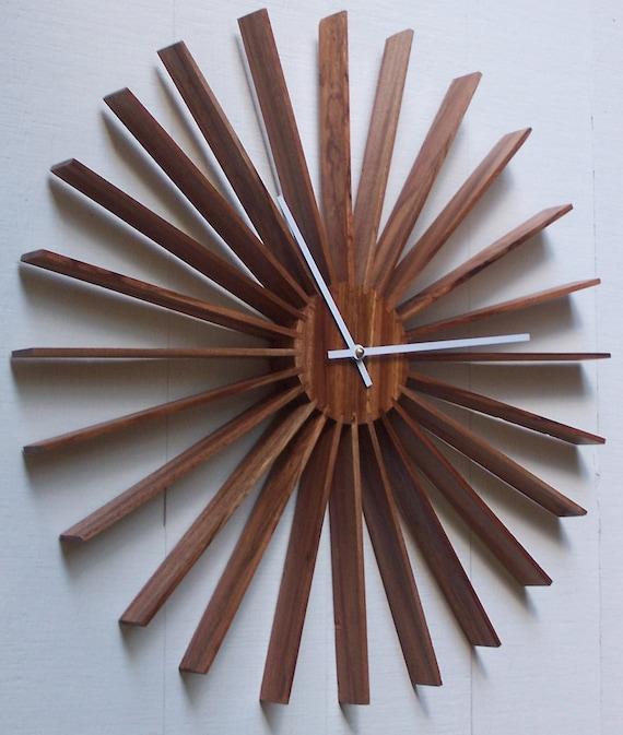 Modern Sunburst Made with Dark African hardwood