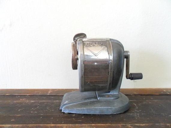 vintage industrial chic boston champion metal pencil sharpener - classroom - school