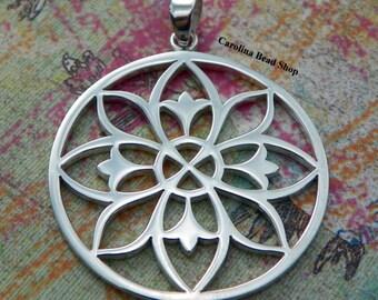 Mandala Pendant Large Sterling Silver - C479