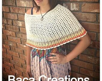 PDF Crochet Pattern - Paisley Capelet (8-12y, Xsmall, Small, Medium, Large, Xlarge) shrug poncho teen adult woman girl
