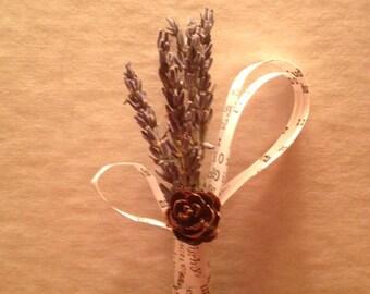 Lavender Bookpage Boutonniere