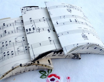 Vintage Sheet Music Gift Pillow Box   - Eco Friendly - Recycled