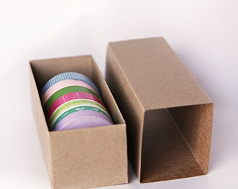 1 SAMPLE BOX- Kraft or White Slider Boxes- 6 5/16 x 2 1/2 x 2  inches  ||Party Favor Boxes, Wedding Boxes, Favor Boxes, Macaroon Boxes