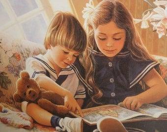 A Child's Garden Book of Verses Robert Louis Stevenson  Illustrations by Donna Green Beatiful Art by Donna Green