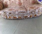 Vintage Diamond Tiara Princess Crown Pageant Wedding