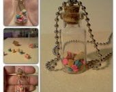 Reserved For Marine Parents-Sewing In A Bottle Necklace