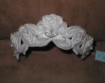 Bridal Headpiece diamond-white or ivory