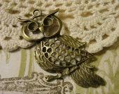 Bronze Owl Pendant...1pcs