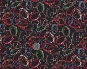 Dog Collars I Spy Quilt Fabric By the Fat Quarter  BTFQ  Out of Print