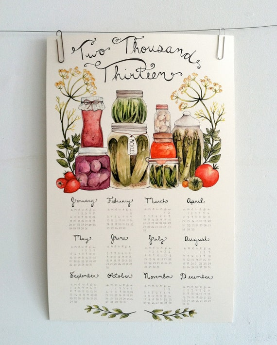 Canning Love 2013 Wall Calendar