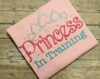 Princess in Training with a Tiara