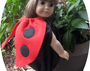 Julie Tennant Doll clothes fit American Girl dolls, 18 inch doll clothes, Halloween ladybug costume, 18 in Halloween ladybug costume