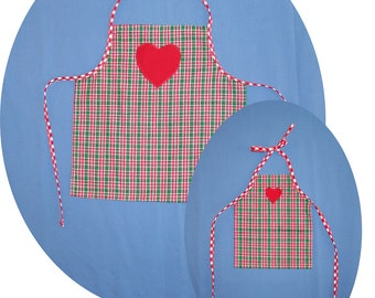 MATCHING Clothes for American Girl Fits BITTY BABY Doll aprons Christmas holiday Girl's Toddler Doll 15 in Bitty Baby twins too