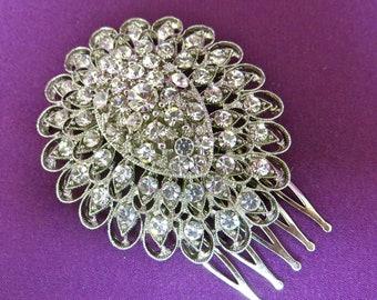Rhinestone Comb,   Bridal Headpiece, Crystal Comb