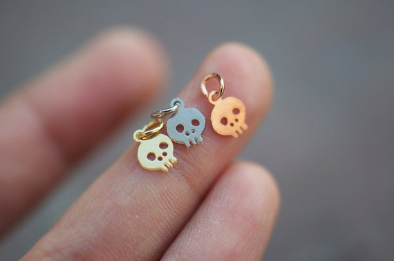 5 Skull Charms of your choice - charms only - 5 pieces