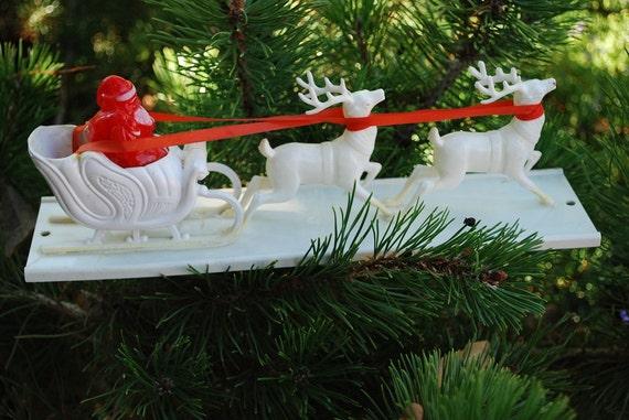 Antique 1950 S Santa And Reindeer Sleigh Display By Samjams3