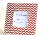 Distressed Red Chevron Frame
