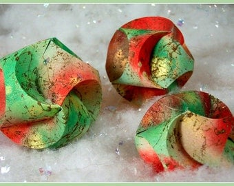 Christmas Paper Ornament Tutorial - Sculpted Paper Ornament PDF - Instructions, How-to, DIY, Holiday