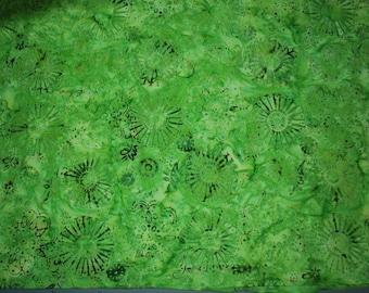 Java Batiks by Galaxy for E.E. Schenck -- Bright/Lime Green Batik Quilt Fabric