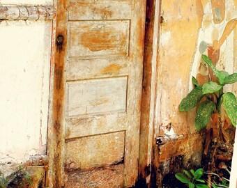 SUMMER SALE! Old Maya Door- fine art photography illustration shabby chic home decor print multiple sizes