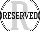RESERVED for Rhiannon Nicole (Rhiannonbs)