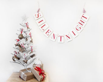 Silent Night Holiday Banner