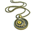 Steampunk Necklace,  Unique Pendant, Victorian Jewelry