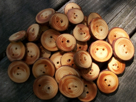 35 Mixed Size Blue Spruce Buttons. 1.25 To 1.50 Inches Wide