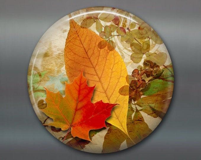 "3.5"" fall leaves fridge magnet, autumn decor, kitchen decoration, big magnet, fall colors decor MA-306"