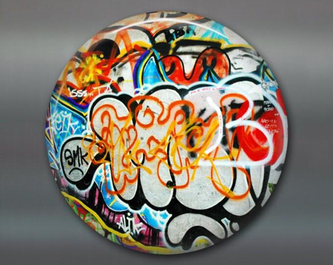"3.5"" graffiti fridge magnet, graffiti art magnet, street art magnet, kitchen decor, large fridge magnet, big magnet, stocking stuffer MA-928"