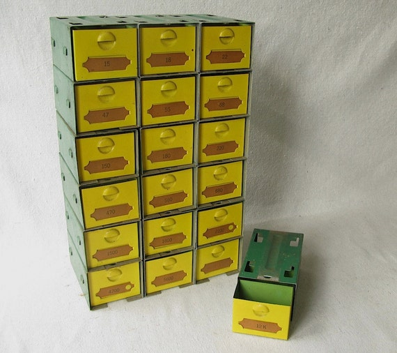 Vintage ONE Metal Parts Drawer Free Shipping