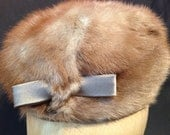 Unusual Vintage Mink Hat with little HANDS